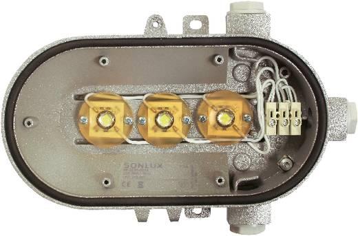 LED-es vízhatlan lámpatest, ovális, 3x4 W, 230 V, IP54, szürke, AS Schwabe 56710