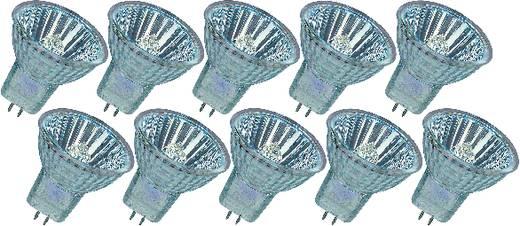 Izzó 40 mm OSRAM 12 V GU4 20 W, melegfehér, dimmelhető, 10 részes készlet