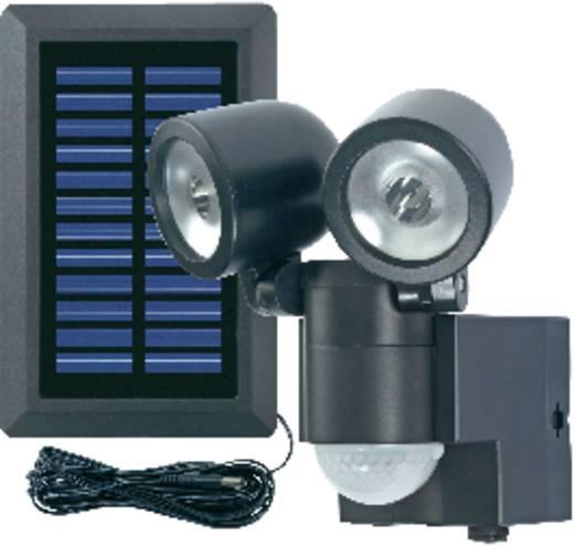 Napelemes LED-es fényszóró mozgásérzékelővel, duó, fekete, GEV 000858