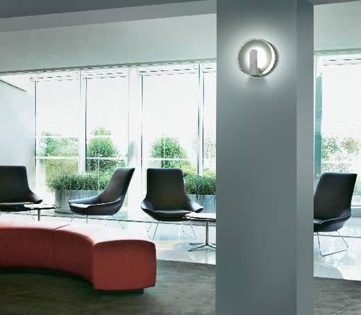 LED-es fali lámpa, 2 x 1 W, 34862A, 130 mm x 57 mm, LED fixen beépítve, 2 x 1 W, ezüst-szürke, Sygonix Saran