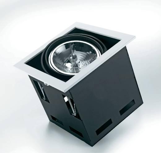 Downlight, beépíthető, 1 x 100 W, G5.3, AR111, halogén fényforrás, fekete-fehér, Sygonix Croux 34866X