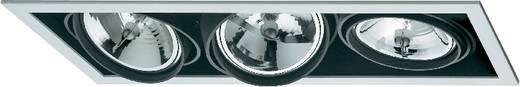 Downlight, beépíthető, 3 x 100 W, G5.3, AR111, halogén fényforrás, fekete-fehér, Sygonix Croux 34866RC