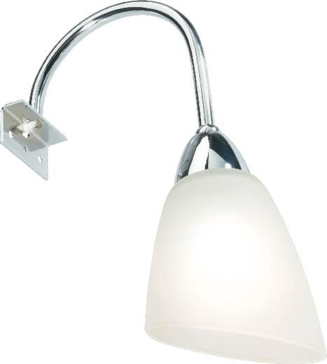 Tükörmegvilágító lámpa E14, halogén-/energiatakarékos izzóhoz, króm/fehér (selymes), 25 W, 230 V/50 Hz