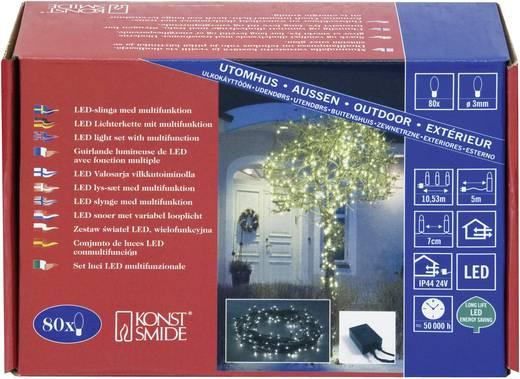 Kültéri mini fényfüzér, 80 LED-del, meleg fehér, 1053 cm, Konstsmide