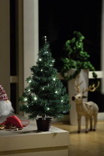 LED-es karácsonyfa, 24 melegfehér LED-del, 11 x 60 cm