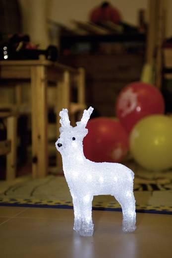 Akril rénszarvas 24 hideg fehér LED-del