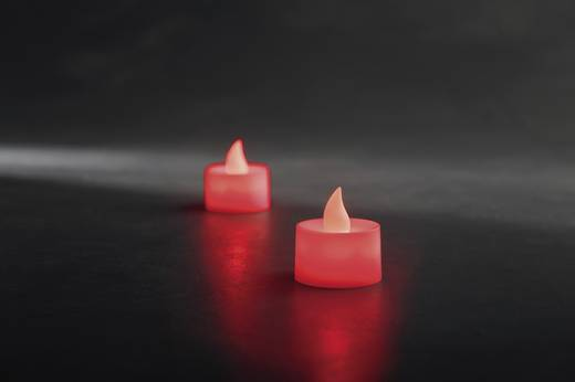 LED-es gyertya készlet, LED mécses, piros, 2 db, Konstsmide 1987-550
