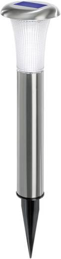 LED-es leszúrható napelemes kerti lámpa, rozsdamentes acél, Esotec Vesuv 102067
