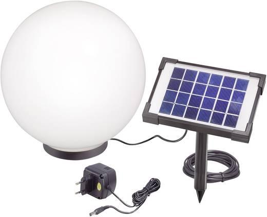Napelemes kerti lámpa, kültéri LED-es dekor lámpa, gömb, fekete/fehér, RGB, Esotec Mega 106036