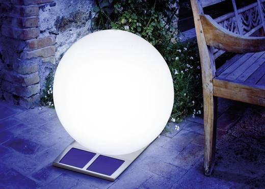 Napelemes LED-es világító gömb, 500 mm, 2 x 3,6 V 1300 mAh, IP44, rozsdamentes acél, Esotec Super Trendy 106050