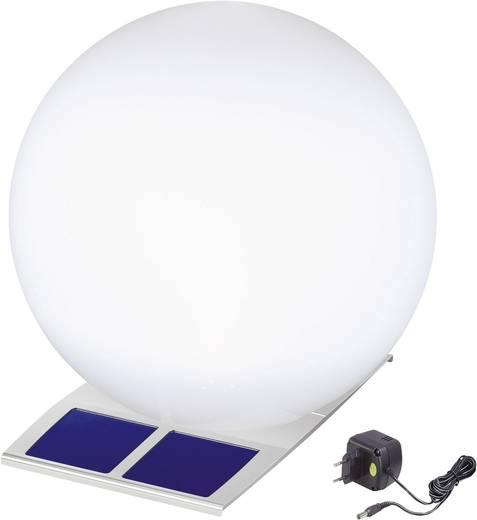 Napelemes kerti lámpa, kültéri LED-es dekor lámpa, gömb, rozsdamentes acél, 1 W, Esotec 106050