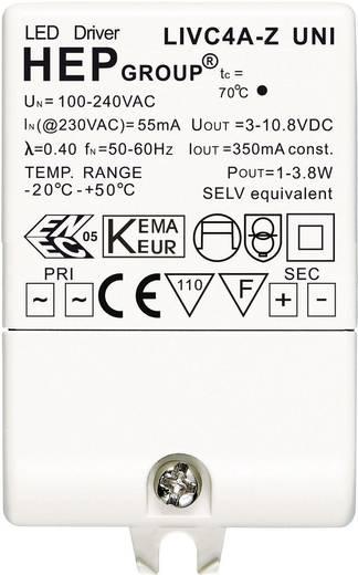LED trafó 350 mA, 4 WLIVC4A-Z UNI Fehér
