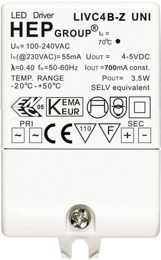 LED meghajtó: 700 mA, 4 WLIVC4B-Z UNI Fehér