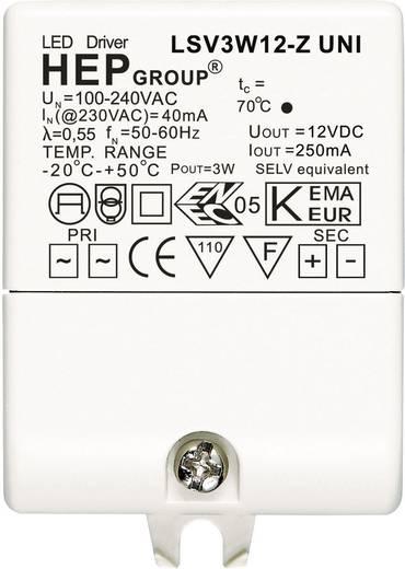 LED meghajtó, 3 W, 12 VLSV3W12-Z UNI Fehér