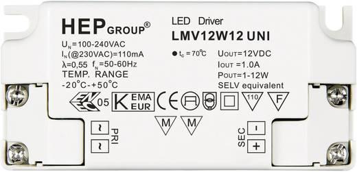 LED meghajtó, 12 W, 12 VLMV12W12 UNI Fehér