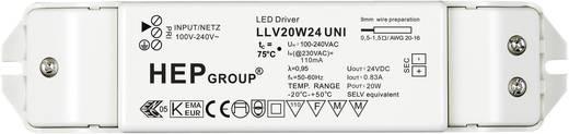 LED meghajtó, 20 W, 24 VLLV20W24 UNI Fehér