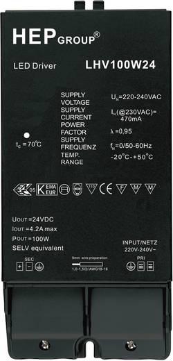 LED meghajtó, 100 W, 24 VLHV100W24 Fekete