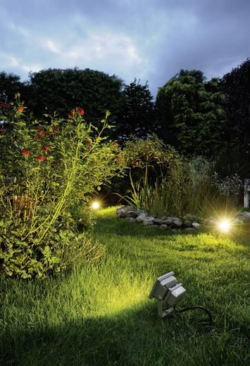Kültéri LED-es fényszóró, 10 W (melegfehér), 230 V, IP65, ezüstszürke, SLV Outdoor Beam 231102