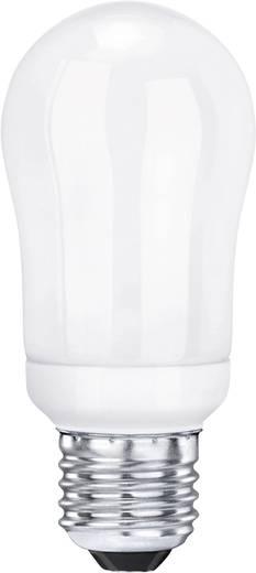 Energiatakarékos lámpa, Sygonix Égő mini, E27, 9 W, melegfehér, gömb formájú