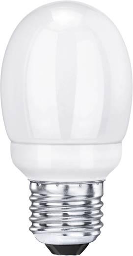Energiatakarékos lámpa, Sygonix Égő mini, E27, 7 W, melegfehér, gömb forma