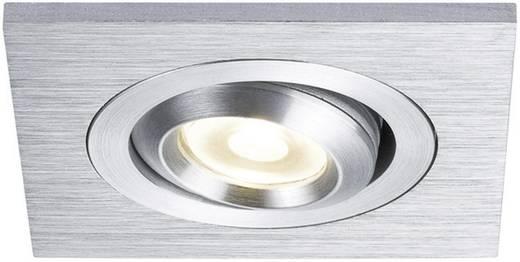 Beépíthető beltéri lámpatest, fixen beépített LED-del, négyszögletes, matt alumínium, Paulmann Premium EBL 92524