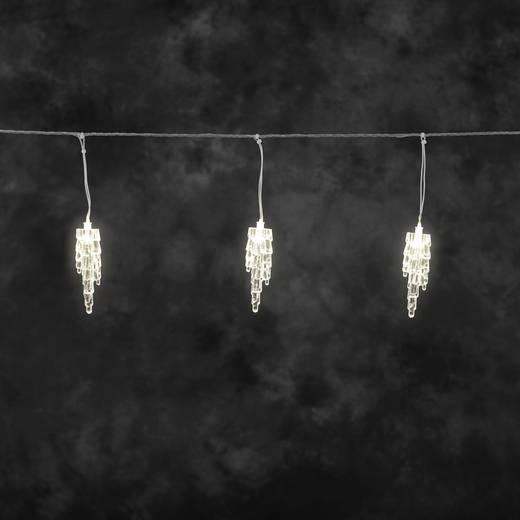Kültéri jégcsap fényfüzér, 20 melegfehér LED, 400 x 22 cm, 24 V, Konstsmide 2739-103