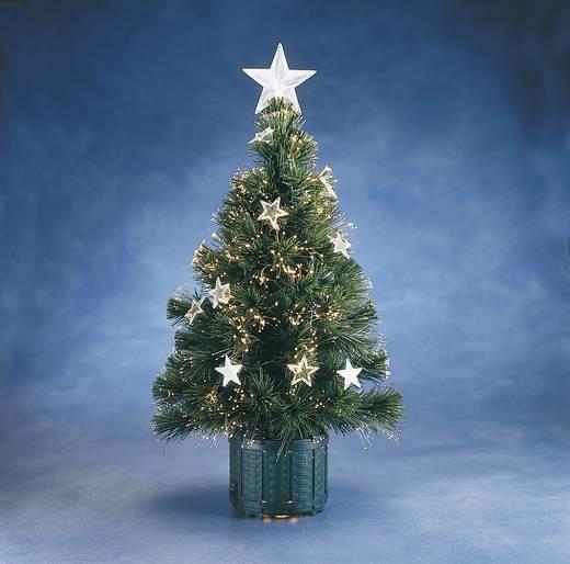 Karácsonyfa, üvegszálas, 1 db fehér izzóval, zöld, (Ø x Ma) 35 cm x 60 cm Konstsmide