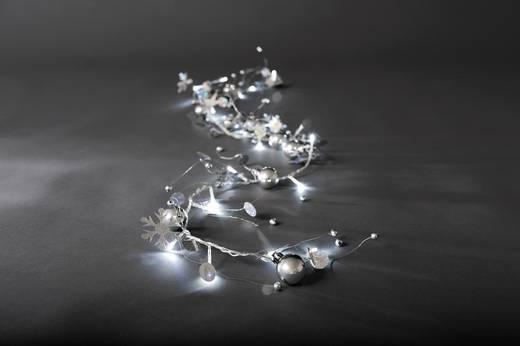 Beltéri fényfüzér hópelyhekkel, 20 hidegfehér LED-del, Konstsmide