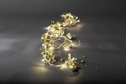 Beltéri fényfüzér gyöngyökkel, 20 melegfehér LED-del, Konstsmide