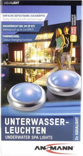 Víz alatti LED-es lámpa, 2 db, ezüst/fehér, Ansmann Aqua Light 5870052-510