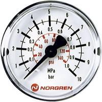 Norgren Manométer 18-013-888 Csatlakozó (manométer): Hátlap 0 25 bar Külső menet R1/8 1 db Norgren