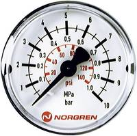 Norgren Manométer 18-015-885 Csatlakozó (manométer): Hátlap 0 6 bar Külső menet R1/8 1 db Norgren