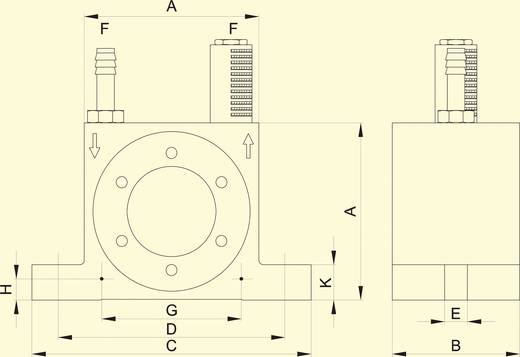 Netter Vibration NCT 10 Turbina vibrátor, Centrifugális erő (6bar) 2666 N, Névl. frekvencia (6 bar) 22500 Hz