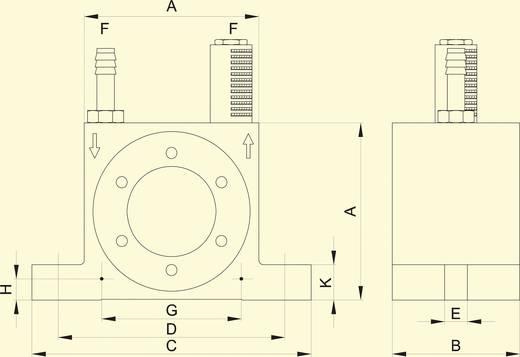 Netter Vibration NCT 4 Turbina vibrátor, Centrifugális erő (6bar) 1441 N, Névl. frekvencia (6 bar) 33800 Hz