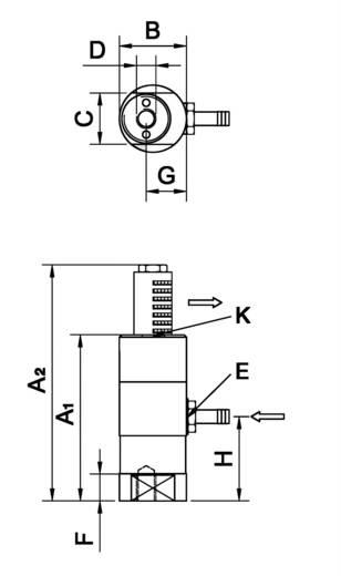 Netter Vibration NTS 350 NF Dugattyús vibrátor, Centrifugális erő (6bar) 733 N, Névl. frekvencia (6 bar) 3663 Hz