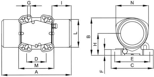 Elektromos külső vibrátor 230 V 3000 rpm 1185 N 0.17 kW, Netter Vibration NEA 50120