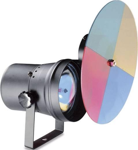 Tükörgömb megvilágító reflektor, színes tárcsával PAR 36 lámpa