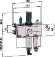 """Norgren BL92-231G Karbantartó egység 1/4"""" Sűrített levegő Üzemi nyomás (max.) 12 bar Norgren"""