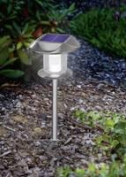 LED-es fali/leszúrható napelemes kerti lámpa, rozsdamentes acél, Esotec Sunny 102093 Esotec