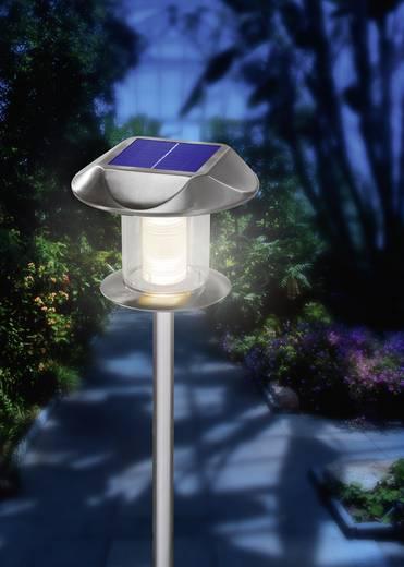 LED-es fali/leszúrható napelemes kerti lámpa, rozsdamentes acél, Esotec Sunny 102093