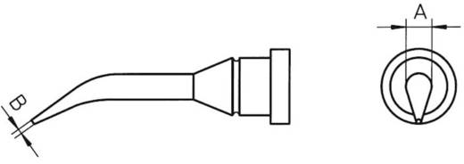 Weller LT pákahegy, forrasztóhegy LT-1SLX kerek formájú, hajlított csúcshegy 2.0 mm