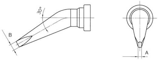 Weller LT-BX hajlított, kétoldalt csapott, véső formájú pákahegy, forrasztóhegy 2.4 mm