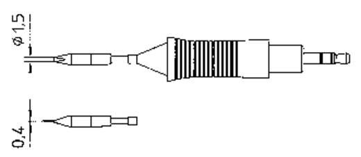 Weller RT4 WMRP mikro pákához hosszú, keskeny, kétoldalt csapott, véső formájú pákahegy, forrasztóhegy 1.5 mm