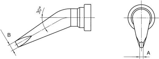Weller LT-ALX hajlított, kétoldalt csapott, véső formájú pákahegy, forrasztóhegy 1.6 mm