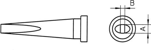 Weller LT-L hosszú, kétoldalt csapott, véső formájú pákahegy, forrasztóhegy 2.0 mm