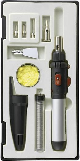 Gázpáka, gázforrasztó 10részes készlet 30 - 120 W hőmérséklet (max.) 1300 °C, üzemidő 50 perc Toolcraft PT-509