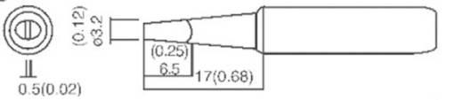 ST Toolcraft forrasztópákához való véső formájú, kétoldalt csapott pákahegy, forrasztóhegy 3.2 mm