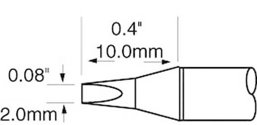 OK International SFV sorozat rövid, keskeny, kétoldalt csapott, véső formájú pákahegy, forrasztóhegy 2.0 mm