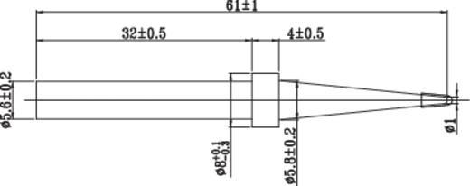 Toolcraft univerzális ceruzahegy formájú, központosított csúcs pákahegy, forrasztóhegy 5.6 mm