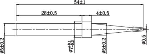 Toolcraft univerzális ceruzahegy formájú, központosított csúcs pákahegy, forrasztóhegy 5.0 mm